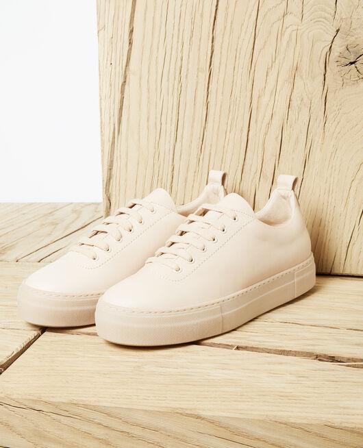 Sneakers con plataforma Beige