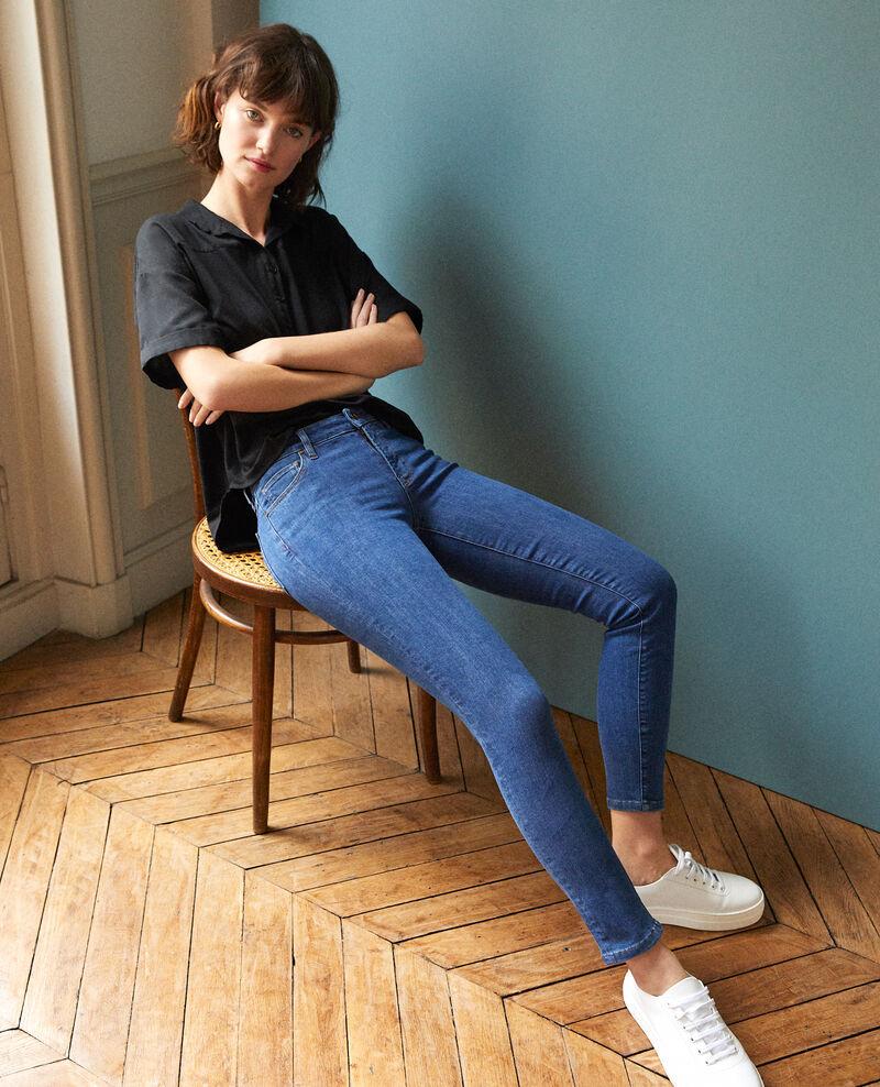 Jeans skinny cropped 7/8 Azul Ginisko