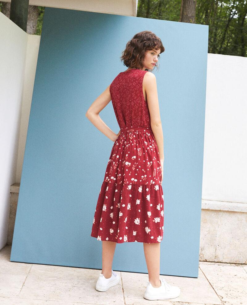 Vestido estampado Anthemis bloom rio red Garry