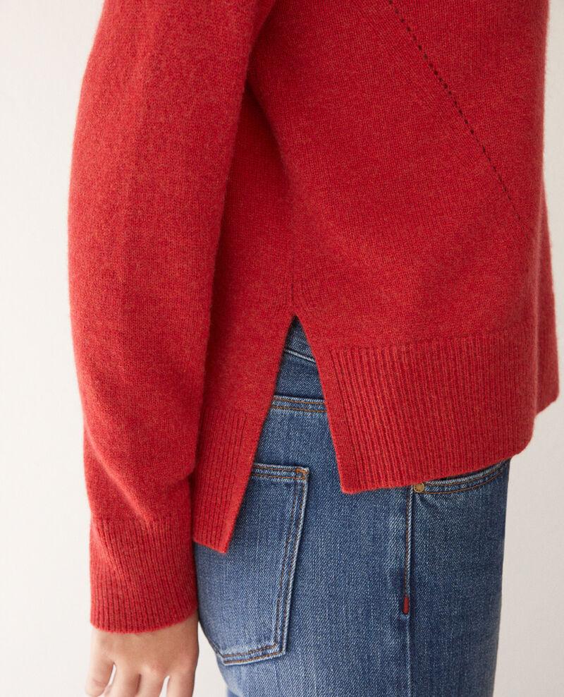 Jersey de cachemir Pompeian red Geraldine