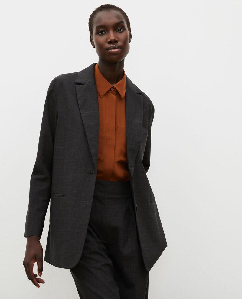 Blazer masculino de lana príncipe de Gales Check-wool-pattern-tailoring Marblou
