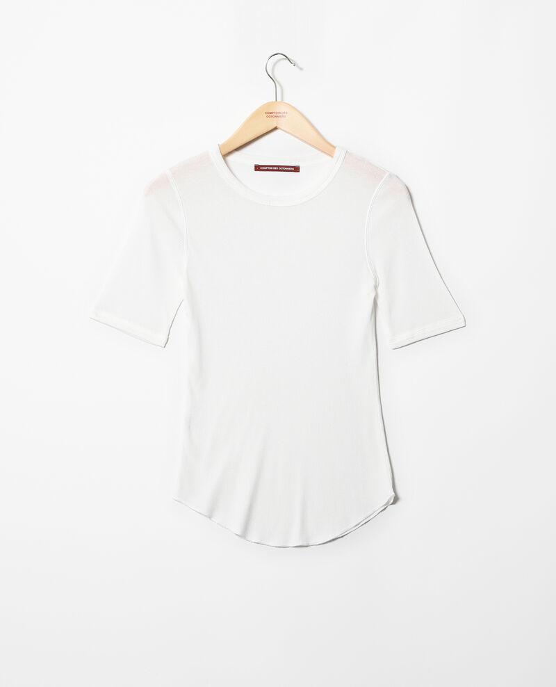 Camiseta canalé  Off white Ibabie