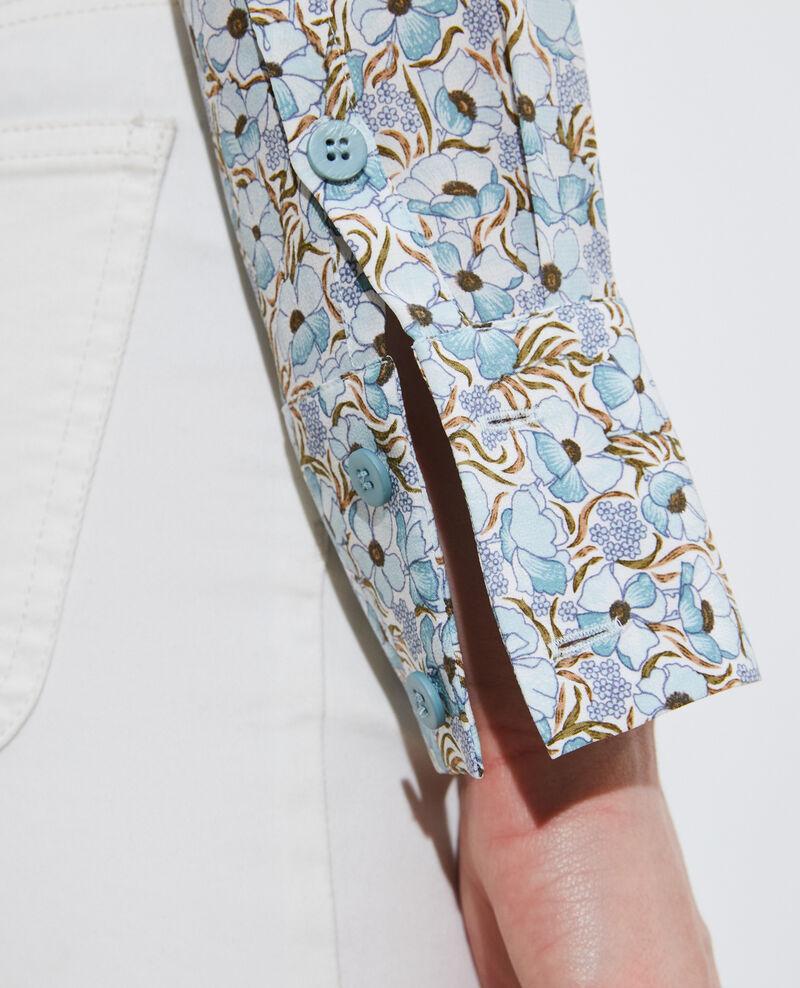 SIBYLLE - Camisa de seda con manga larga Art deco blue Misabethou