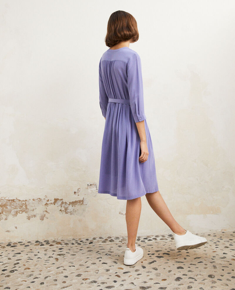 Vestido midi con seda Violet Idalie