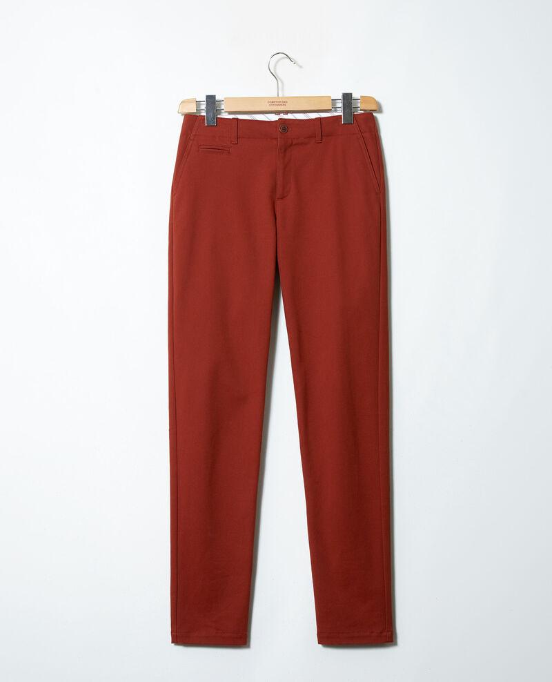 Pantalones chinos de tela  Brandy brown Jino