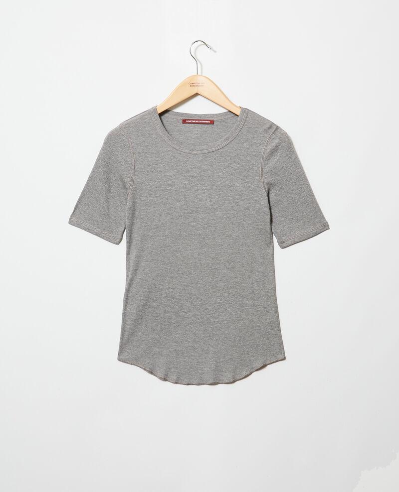 Camiseta canalé  Heather grey Ibabie