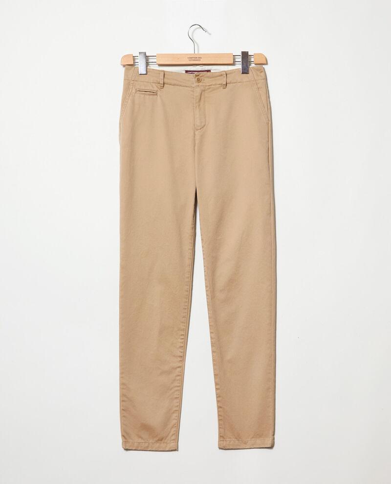 Pantalón de tela Safari beige Irouba