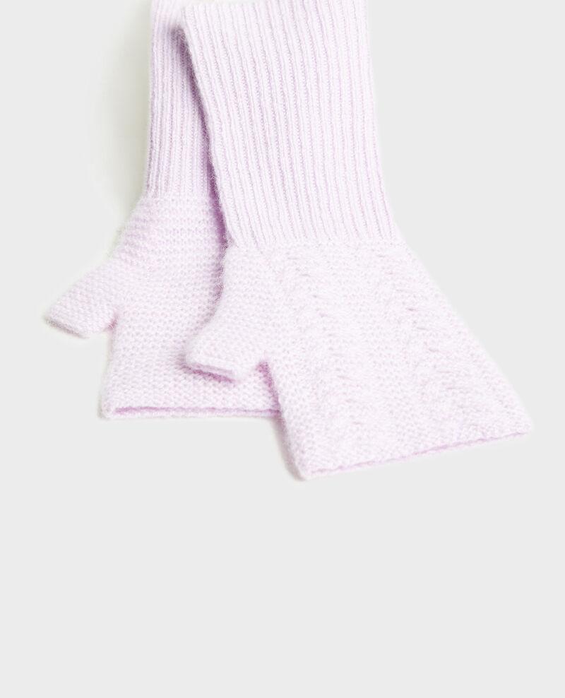 Manoplas de cachemir Pastel lilac Mirabel