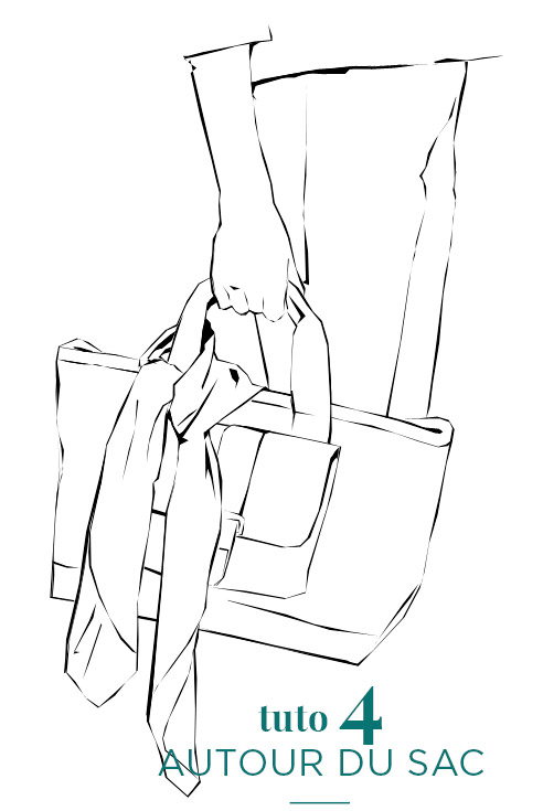 Porter un foulard autour d'un Sac