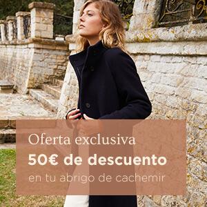 50€ de descuento en tu abrigo de cachemir