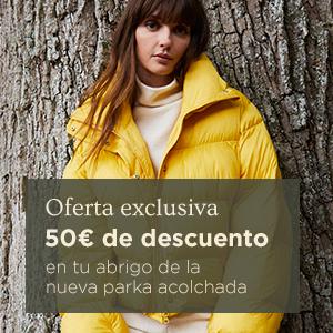 50€ de descuento en tu abrigo de la nueva parka acolchada