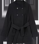 Manteau avec coton et laine