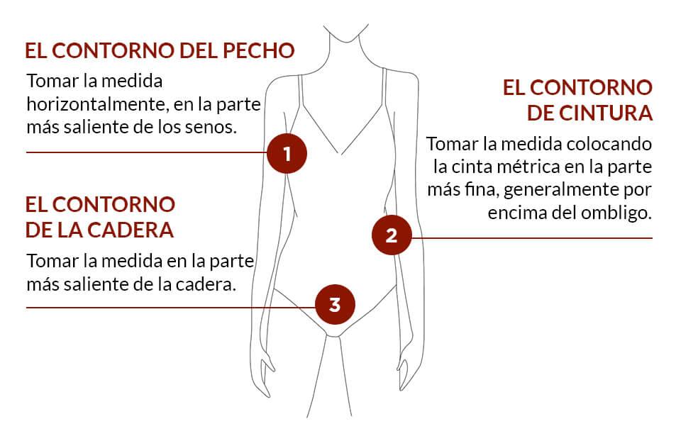 Guía de tallas para ropa mujer