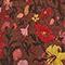 Falda corta acampanada de seda motivo floral Print eden tortoiseshell Maurau