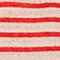 Camiseta de lino Stripes buttercream fiery red Logron
