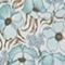 Falda cruzada corta de seda Art deco blue Palongue
