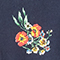 Vestido midi Fleurs navy Fidji