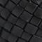 Cinturón ancho trenzado de cuero. Black beauty Perles