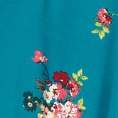 Camisa con cuello estilo pijama Fleurs pacific green Fashiona