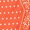 Fular de seda con forma de rombo Spicy orange Nandana
