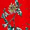 Vestido largo de crepé de viscosa Herbier fiery red haze Lavish