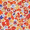 Blusa con estampado de flores Garden royalblue Ninu